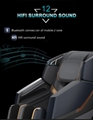 American 3D Luxury Electric 4d zero gravity Full Body Shiatsu Massage Chair  9
