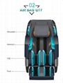 American 3D Luxury Electric 4d zero gravity Full Body Shiatsu Massage Chair  10