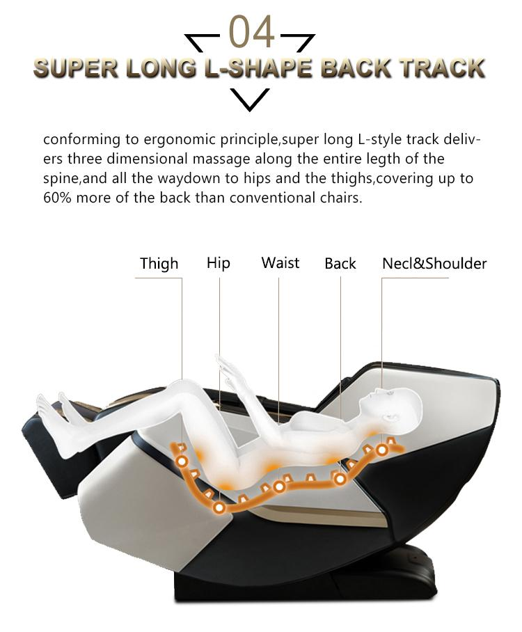 4D Innovation Full Body Kneading Tapping Massage Chair With Heat Therapy 15