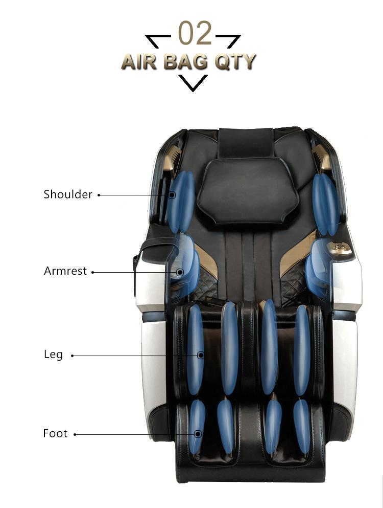4D Innovation Full Body Kneading Tapping Massage Chair With Heat Therapy 17