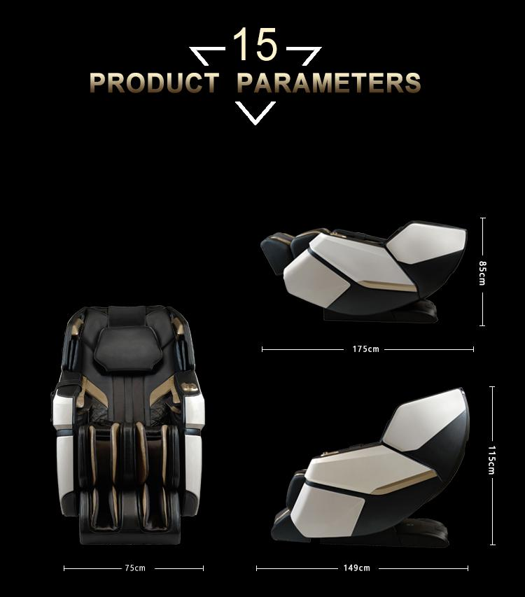 4D Innovation Full Body Kneading Tapping Massage Chair With Heat Therapy 18