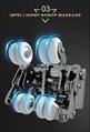 Top Quality Electric Mini Back Stretch Air Pressure Massage Chair 16