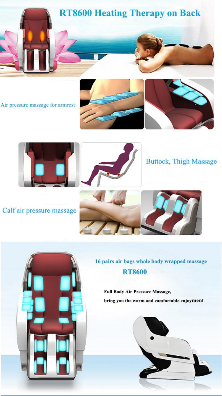 Luxury Full Body 3D Zero Gravity Leather Massage Chair  8