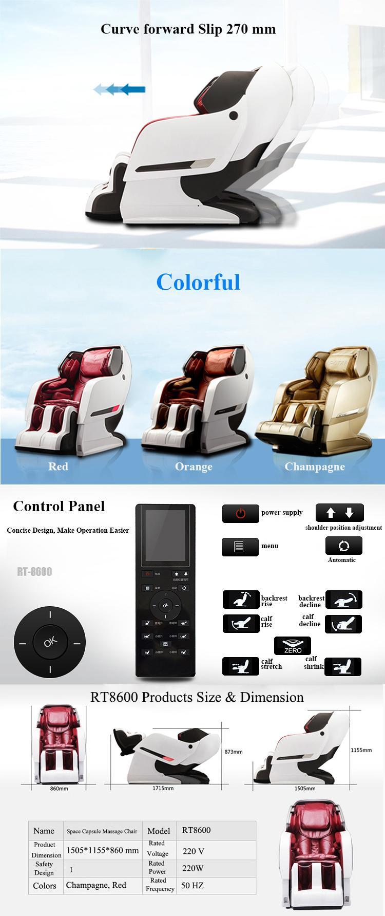 Luxury Full Body 3D Zero Gravity Leather Massage Chair  10