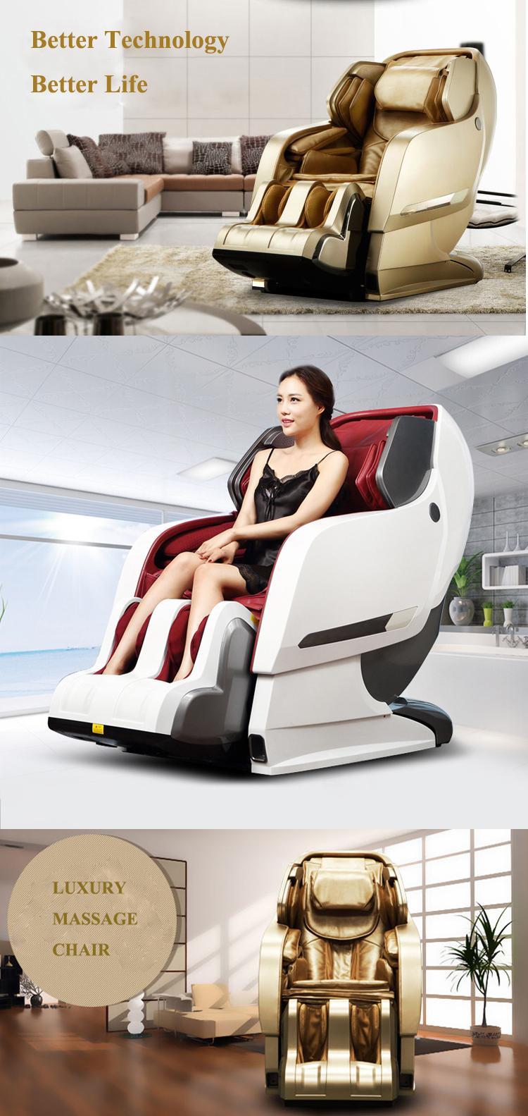 Luxury Full Body 3D Zero Gravity Leather Massage Chair  11