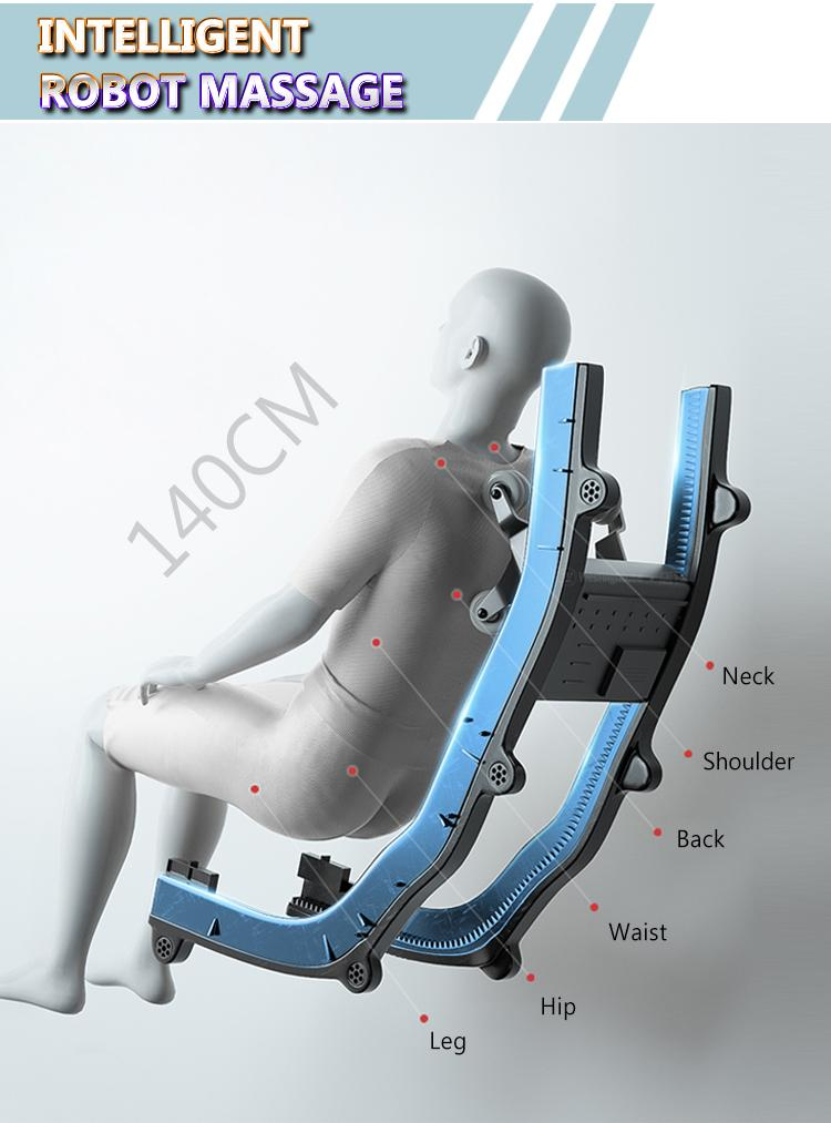Wholesale 3D Air Bags Recliner Rocking Massage Chair  With Foot Rollers 16