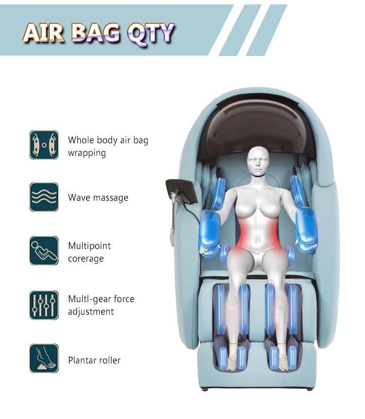 Wholesale 3D Air Bags Recliner Rocking Massage Chair  With Foot Rollers 18