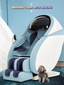 Wholesale 3D Air Bags Recliner Rocking Massage Chair  With Foot Rollers 20
