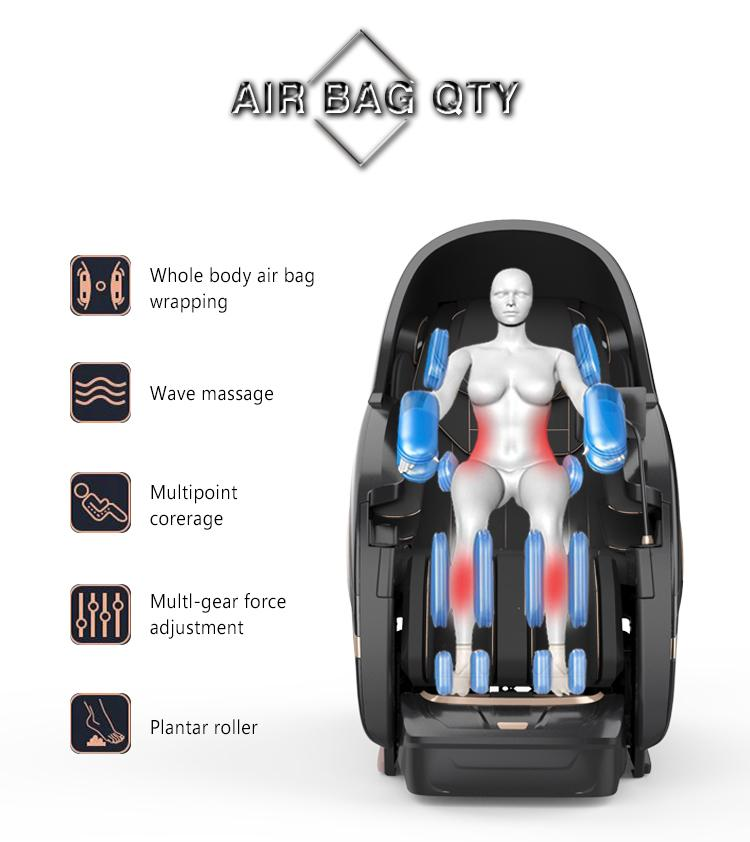 Electric Relax Free Shipping To US Full Body Recliner Shiatsu Massage Chair 8
