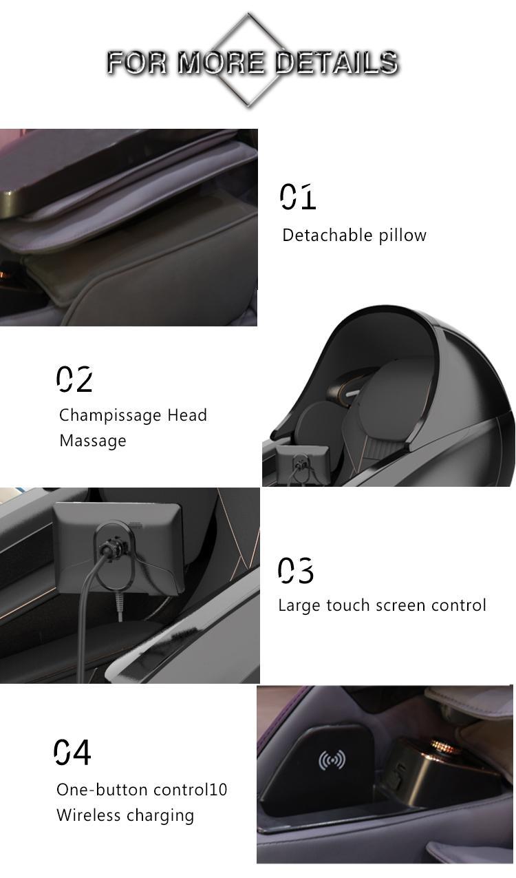 Electric Relax Free Shipping To US Full Body Recliner Shiatsu Massage Chair 19