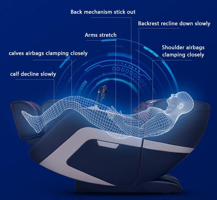 China Manufacturer Recliner SL Touch Screen Foot Spa Massage Chair Electric  9
