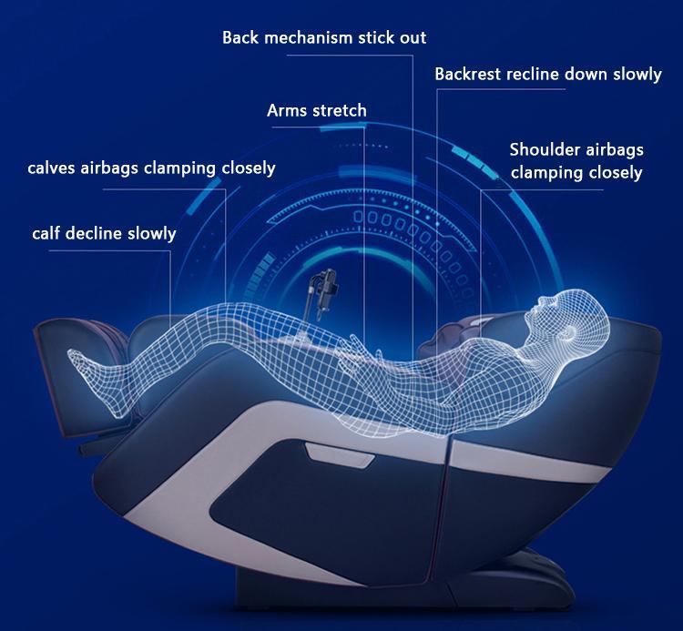 Beauty Salon Equipment Electric Relax Sex Air Pressure Foot Spa Massage Chair 9