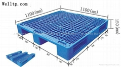 蘇州川字底網格面塑料棧板