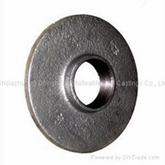 Malleable iron pipe fittings flanges,light pattern without bolt hole