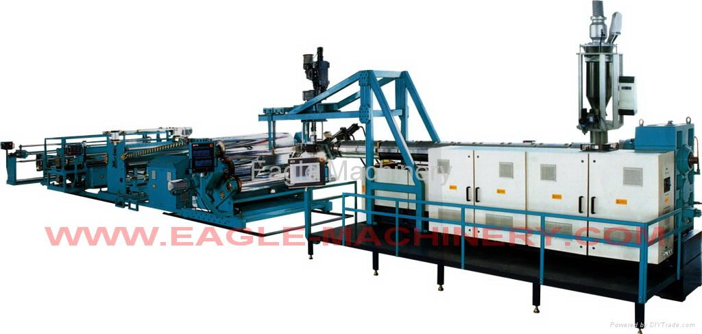 PE/PP/PS/HIPS/ABS/PVC Sheet Extrusion Production Line 4