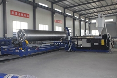 PP-H/HDPE Helically Wound Seamless Tanks Machine