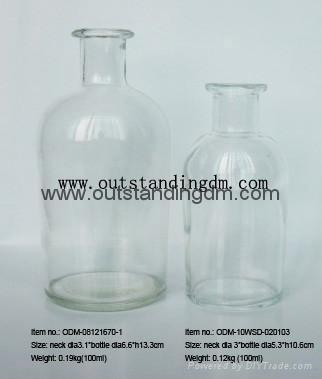 clear glass botttle