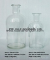 clear glass botttle