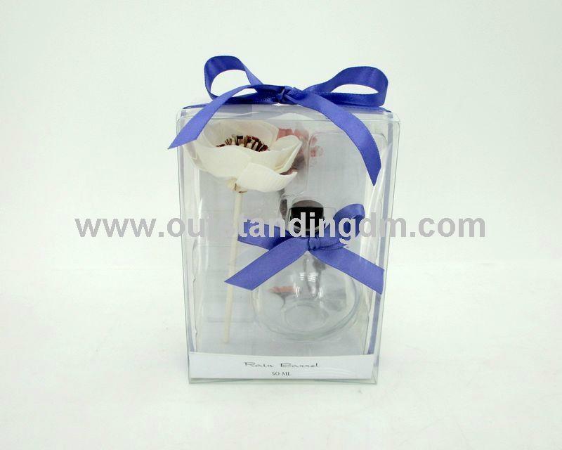 sola flower,transparent glass bottle with 55ml fragrance oil