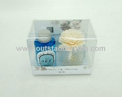 sola flower with glass bottle for gift set