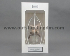 1 pc bird cage,1 pc ceramic bird, 1pc clear glass bottle in paper box