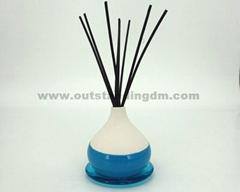 ceramic vase with rattan stick no oil