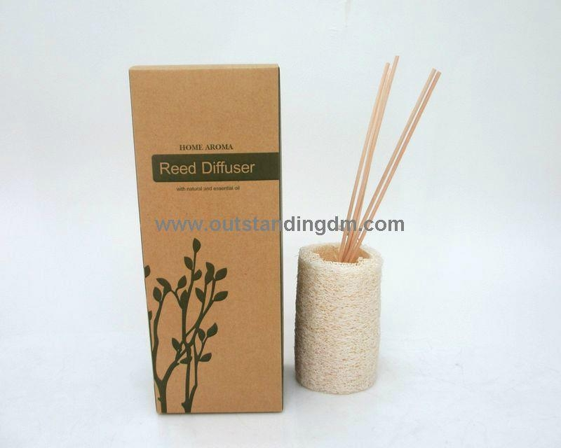 50ml glass bottle with natural rattan sticks