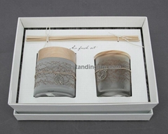 Glass Candle Holder   P