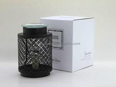 black metal  fragrance oil burner