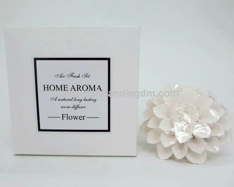 ceramic flower diffuser dor gift set
