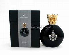 300 ml black glass bottle with zinc alloy cap