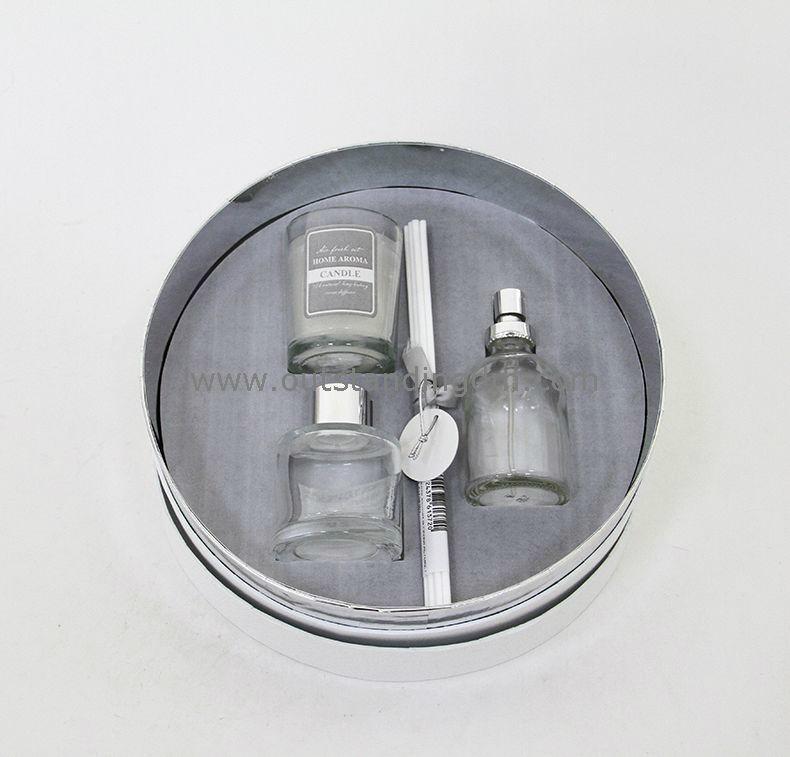 45ml glass bottle, spray bottle and wax