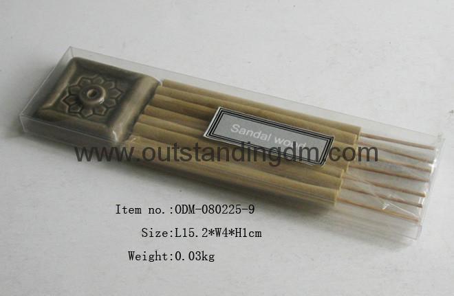 1pc ceramic holder and 7pcs  incense sticks