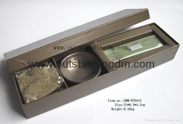 1pc ceramic incense holder,10pcs incense sticks