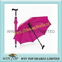 """23"""" pink crutch umbrella"""