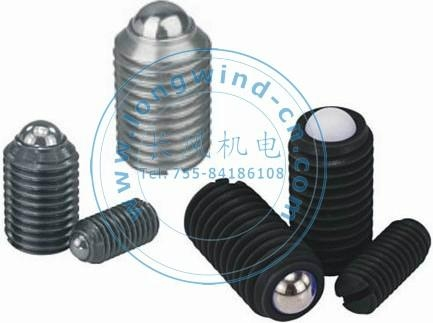 Metric Spring Plungers with Slotted & Ball