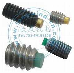 Soft tipped socket set screws