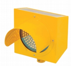 "Solar Traffic 8""Single-Side Flash LED Warning Light"