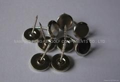 Movable head metal hard tag pins