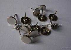 metal hard tag pin grooved, flat head 16mm-21mm
