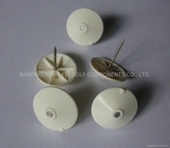 Plastic umbrella head eas pin with grooves