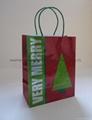 medium printed hologram paper handle bag