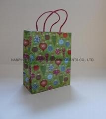 中號鐳射印刷紙繩購物禮品手提袋