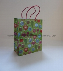 medium hologram paper handle bag for shopping or packing