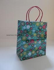 中號鐳射印刷紙繩手袋購物袋禮品袋