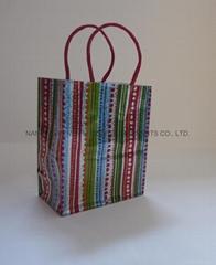 小号镭射纸绳袋购物袋包装袋