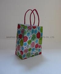 小号镭射纸绳提手袋购物袋礼品包装袋