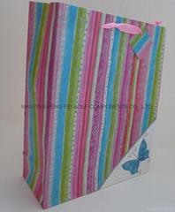 大号蝴蝶撒粉购物礼品包装袋