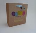 printed Brown kraft paper bag with