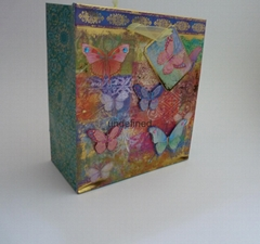 中號印刷燙金紙袋鑽石裝飾